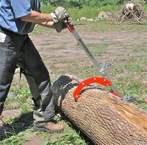 Woodchuck Tool,Quad 4 tools in 1+Hitching Post!Log lifter,holder,roller,chainsaw picture