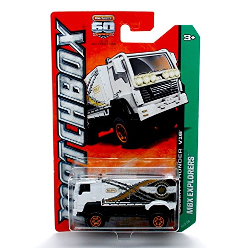 DESERT THUNDER V16 (WHITE) * MBX EXPLORERS * 60th Anniversary Matchbox 2013 Basic Die-Cast Vehicle (#99 of 120)