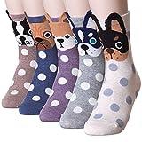 Snowlike Dot Puppy Dog Socks (5 Pairs)  Color: Snowlike 5 pairs  One Size