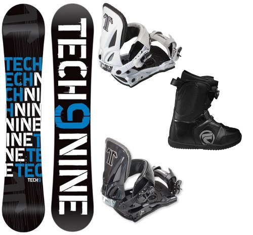Technine T Money Complete Snowboard Package with Split T Bindings and Flow Vega BOA Men's Boots Board Size 156