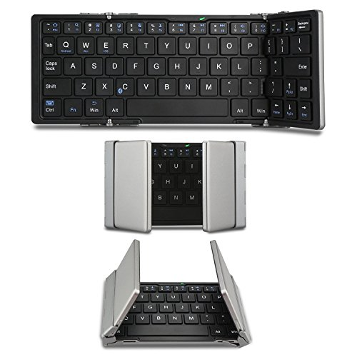 EC Technology? Bluetooth3.0 折りたたみ式ワイヤレスキーボード 無線キーボード コンパクトキーボード 超薄 内蔵電池 Windows/iOS/Android切替(iPad Air/iPhone 6/Windows/Xperia Tab その他のタブレットで使用可能-小型