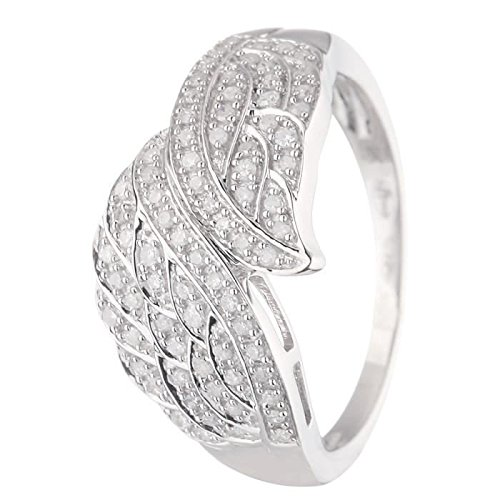 Princess Princess Diamonds Ring 375 White Gold And Diamonds 0.26 ct Diamonds - Size - 52