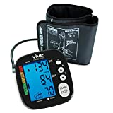 Blood Pressure Monitor by VIVE Precision - Best Automatic Digital Upper Arm Cuff - Most Accurate, Portable & Perfect for Home Use - One Size Fits All Cuff - 2 Year Warranty (Black)