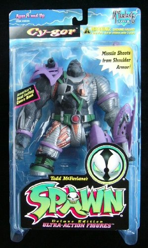 1996 MCFARLANE TOYS SPAWN SERIES 4 CY-GOR FIGURE IN PURPLE - 1