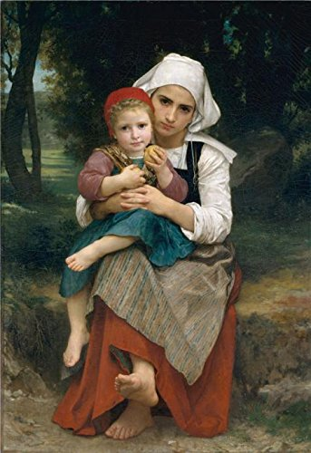 Oil Painting 'Adolphe William Bouguereau-Breton Brother And Sister,1871', 12 x 17 inch / 30 x 44 cm , on High Definition HD canvas prints, gifts for Bath Room, Home Theater And Living Room Decoration (Winds And The Waves Dean Hughes compare prices)