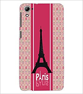PrintDhaba Tower D-4771 Back Case Cover for HTC DESIRE 826 (Multi-Coloured)