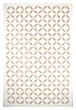 Acurio Moorish Circle White Vinyl Lattice Decorative Privacy Panel