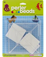 Perler Beads Large Clear Square Pegboards- 2 Count