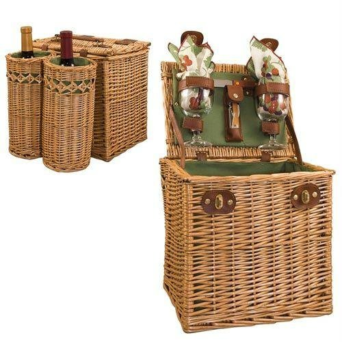 Picnic Time Handcrafted Vino Picnic Basket