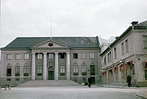 poster-a3-sweden-harnosand-angermanland-bank-sundsvall-main-square-harnosand-today-is-nordea-bank-sa
