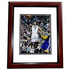 Trey Burke Autographed Hand Signed Utah Jazz 8x10 Photo - MAHOGANY CUSTOM FRAME by Real Deal Memorabilia