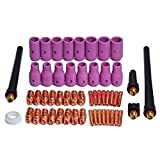 TIG Collets Bodies Alumina Cup Assorted Size Fit SR WP 9 20 25 TIG Welding Torch Consumables 53pcs