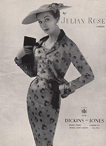 julian-rose-london-dickins-and-jones-fashion-advert-british-vogue-1955-old-print-antique-print-vinta