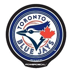 配線不要! パワーデカール MLB正規ライセンス品 トロント ブルージェイズ2 光るLEDデカール Toronto Blue Jays
