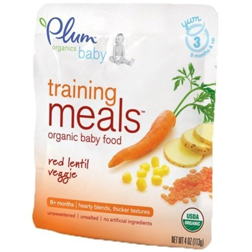 Plum Organic Baby Training Meals Organic Baby Food: Stage 3, Red Lentil Veggie 4 oz Pouch