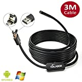 Volador Android Borescope USB Inspection Camera 5.5mm Diameter 2 in 1 Smartphone Borescope Snake USB Endoscope Inspection Camera for Andoird Phone Tablet PC and Computer