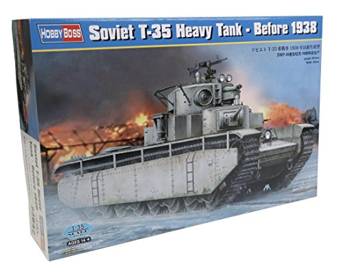 Hobby Boss Before 1938 Soviet T-35 Heavy Tank Model Kit (1/35 Scale) (1 35 Russian Tank compare prices)