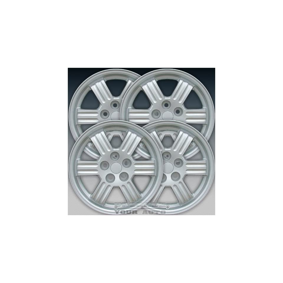2000 2002 Mitsubishi Eclipse 17X6.5 Factory Replacement Sparkle Silver Full Face Painted Wheel Set of 4