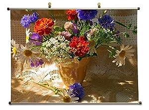 Flower arrangement canvas wall scroll poster for Canvas print arrangement ideas