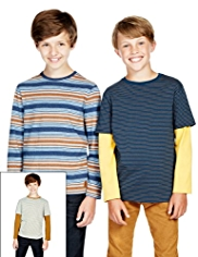 3 Pack Striped T-Shirts