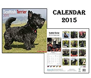 Scottish terrier terrier ecossais chien calendrier 2015 for Calendrier mural 2015