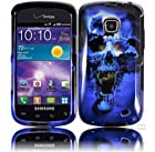 Plastic Blue Skull Hard Cover Snap On Case For Samsung Galaxy illusion Proclaim i110 (Accessorys4Less)