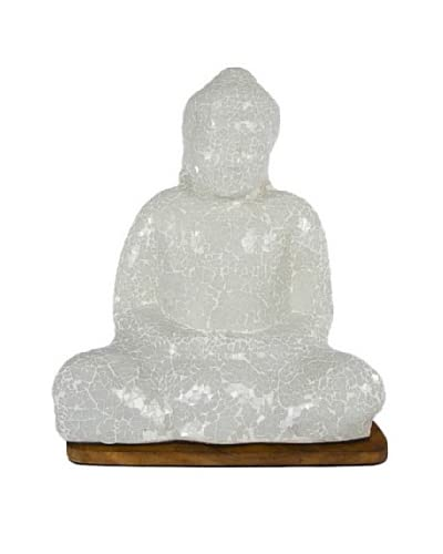 Foreign Affairs Large Essa Sitting Buddha Mosaik Lamp, White