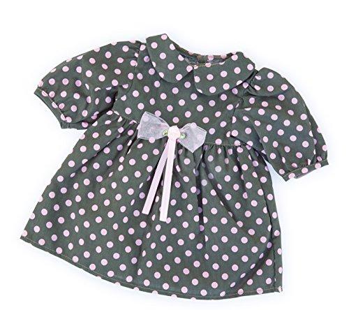 Bayer Design - 84629 - Vêtement Pour Poupée - Habit Poupon - Robe De Cérémonie Points - Rose - 40-46 Cm