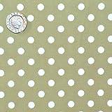 Green 7mm Polka Dot Fabric 1 Metre 100 % Cotton Spotty.
