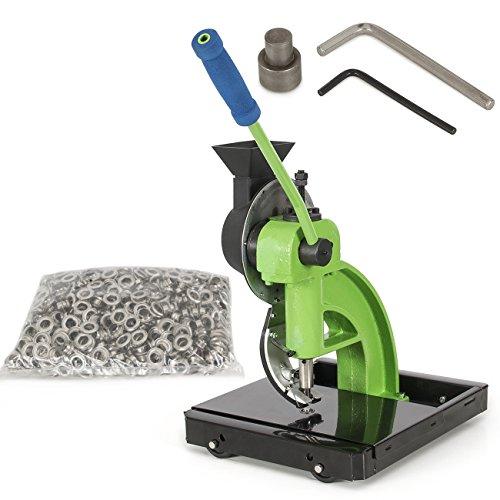 ARKSEN© 10,000pc #2 Eyelet Semi-Automatic Grommet Machine w/ Rolling Base Hand Press