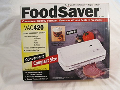 FoodSaver V420 Vacuum Food Sealer Small Footprint Vac Packer