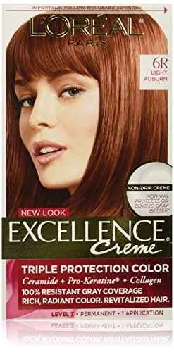 L'Oreal Paris Excellence Creme, 6R Light Auburn, (Packaging May Vary)