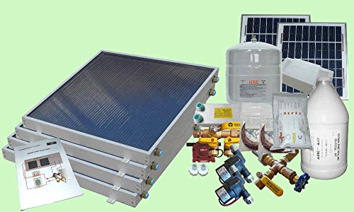 Complete 4 Panel Gh Type Freeze Protected Hybrid Solar Water Heater Kit