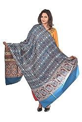 Weavers Villa - Womens Kashmiri Jamah Blue Shawls ,Stoles