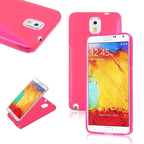 Style Icon Samsung Glaxay Note 3 Hot Pink Silicone Gel S Line Grip Case Cover For Samsung Glaxay Note 3 By G4GADGET®