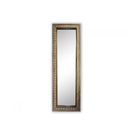 Matt gold rectangular mirror a