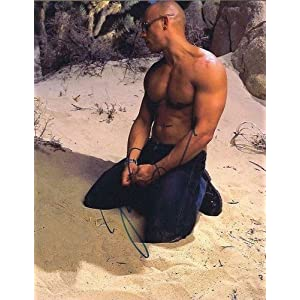 Shirtless VIN Diesel Signed Portrait in Person