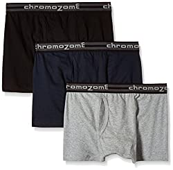 Chromozome Men's Cotton Trunk (Pack of 3) (8902733346900_TC 04_Large_Black, Navy and Grey)