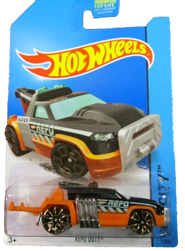 Hot Wheels - 2014 HW City 1/250 - HW City Works - Repo Duty (black/orange) - 1