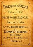 Antique Catalog Copy - Edmond Bournaud of Paris Mold Manufacturer- Fabrique de Moules