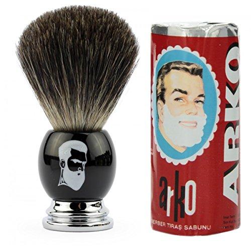 rusty-bob-afeitarse-hecha-de-genuina-pelo-de-tejon-y-jabon-de-afeitar-arko-schwarz
