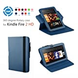 Exact 360 degree Rotary case for Amazon Kindle Fire HD 7 Blue(with Auto Sleep/Wake)