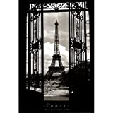 Eiffel Tower (Through Gates, 1909) Art Poster Print - 24