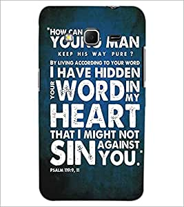 PRINTSWAG TYPOGRAPHY Designer Back Cover Case for SAMSUNG GALAXY CORE PRIME