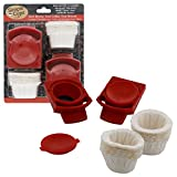 Reusable Nescafe Nespresso Coffee Capsules (Set of 2) with 50 Filters - Use your own coffee in Dolce Gusto Brewers