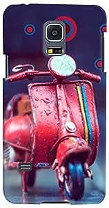 PrintVisa 3D-SGS5MINI-D8132 Scooter Cute Case Cover for Samsung Galaxy S5 Mini