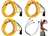 Amazon.co.jp簡単点灯! 有機EL ワイヤー 1m×3本 インバーター 両面テープ 同梱 10色展開 イルミネーション ネオン ファイバー 電飾 装飾 (橙) 0139