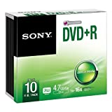 Sony 10DPR47SS - 10DPR47SS - 10 x DVD+R - 4.7 GB ( 120min ) 16x - slim jewel case