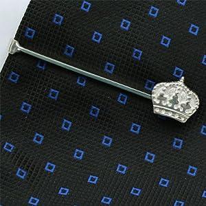 Pince à cravate, Couronne, Argent 925, Faits mains