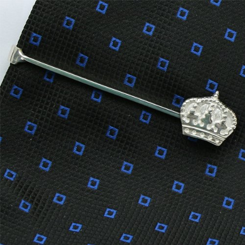 Crown Tie Clip Sterling Silver handcrafted